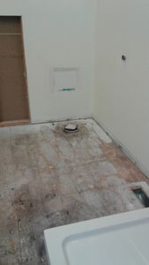 Bathroom Renovation with Sharp Building Solutions - During